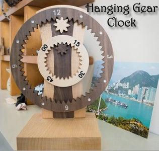 Hanging Gear Clock