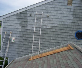 Safe Scaffolding for painting above an attached garage.