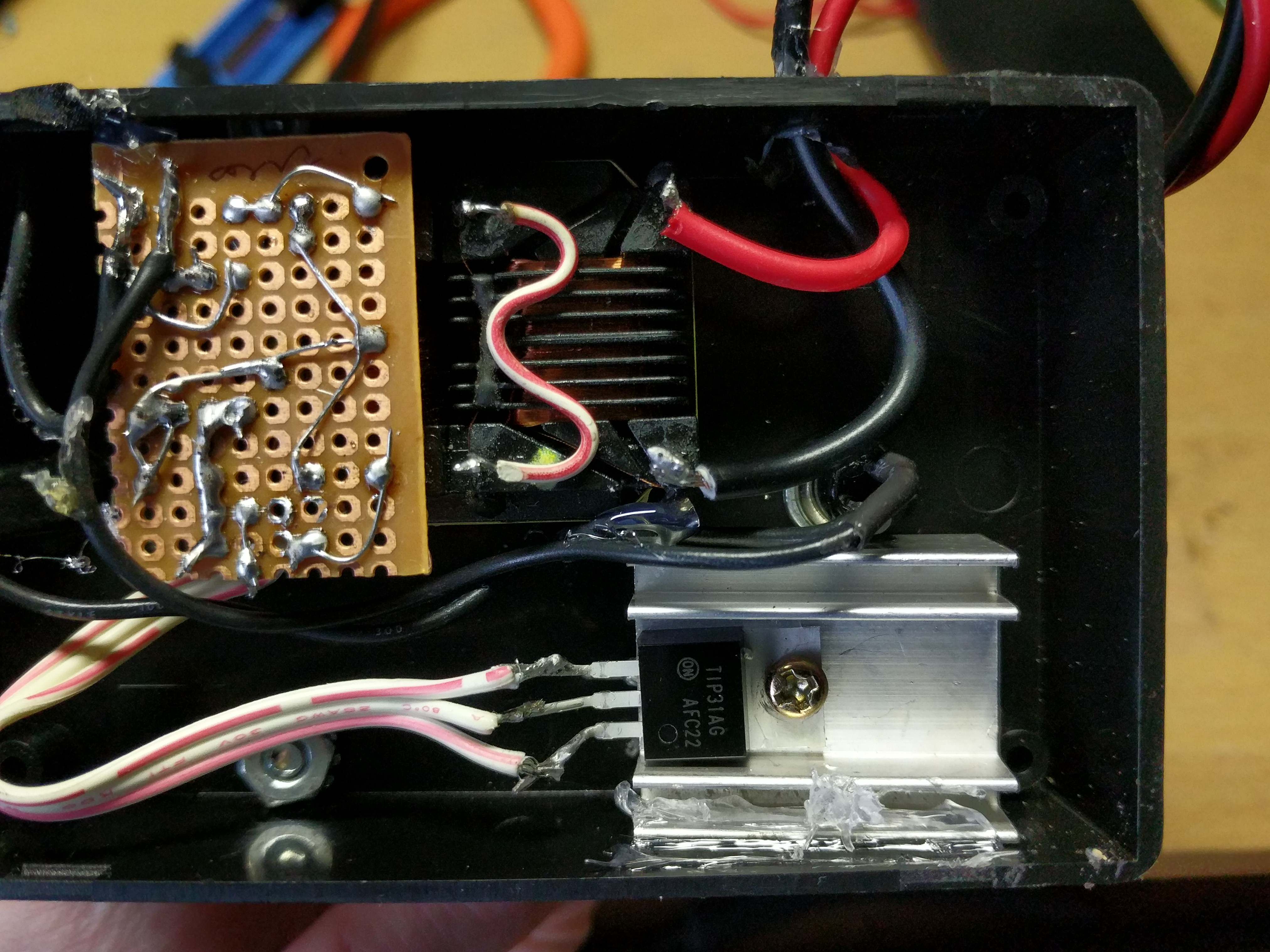Picture of Wiring the Electronics to the Enclosure