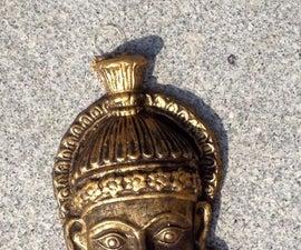 Faux antique bronze sculpture