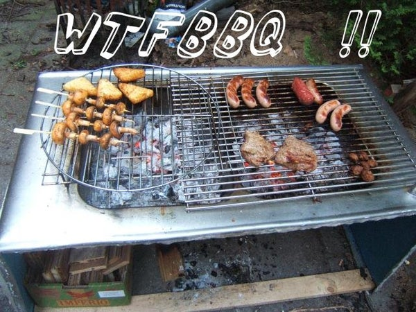 Stainless Steel Countertop Becomes BBQ