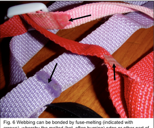 Fuse Melting of Webbing
