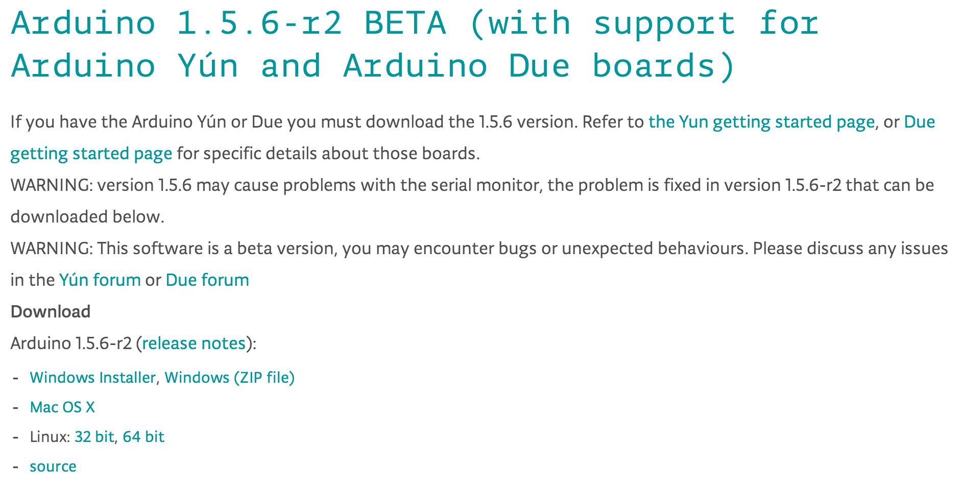 Picture of Download the Arduino 1.5.6-r2 Beta IDE