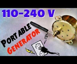 DIY Portable 110-240V Charger AC Hand Cranked Power Generator For Emergency