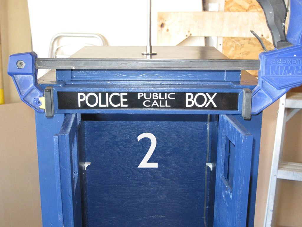 Picture of Finish the 'Police Box' Sign
