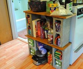 DIY Ikea: Modular food shelf
