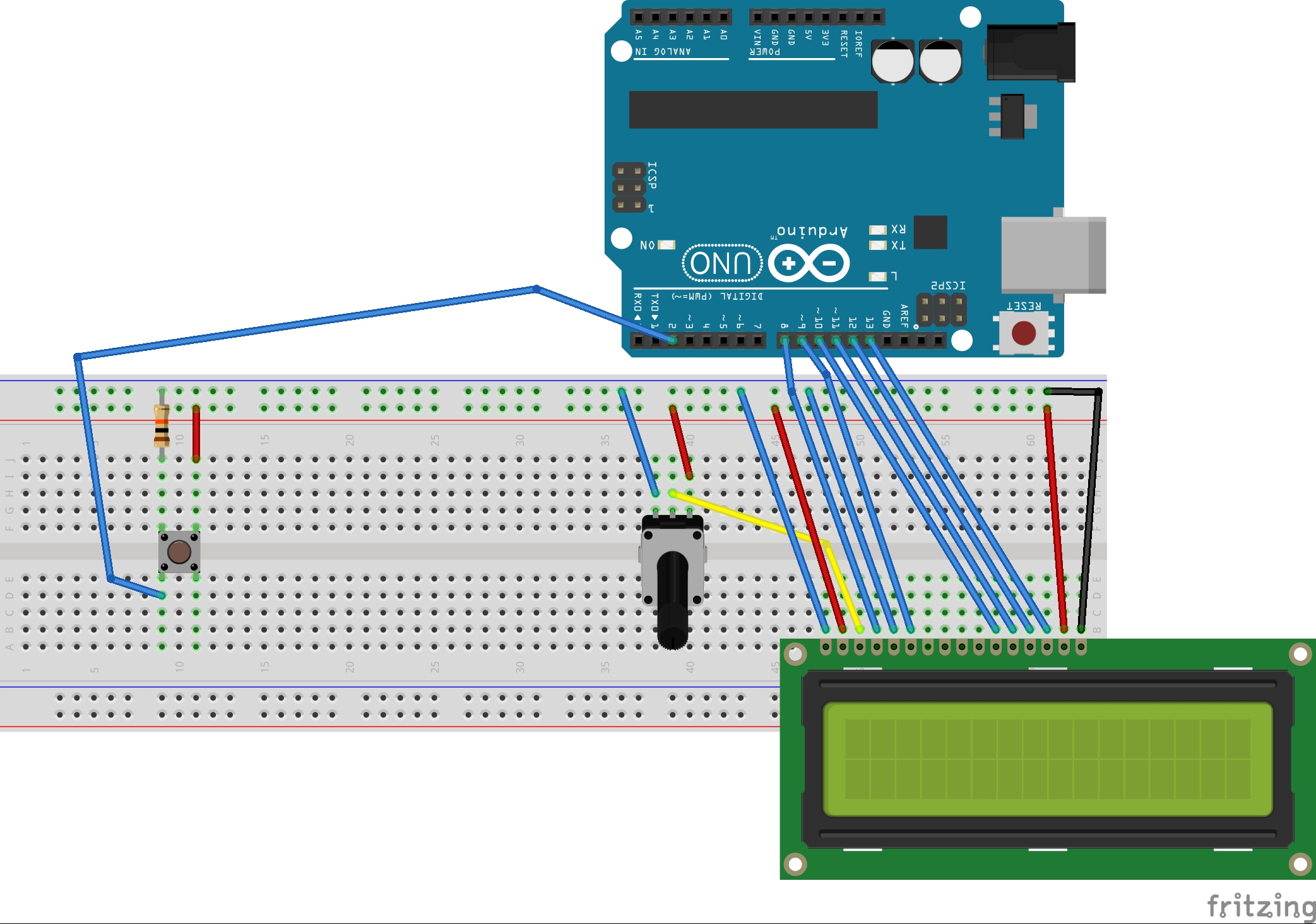 Picture of Arduino LCD Interrupts
