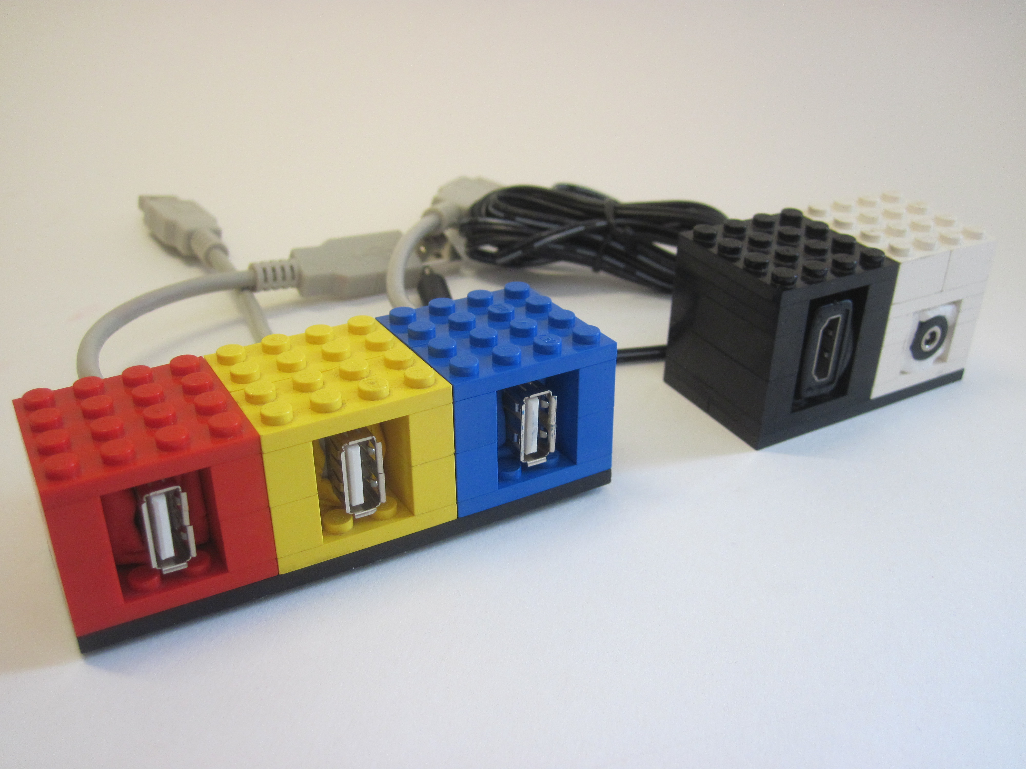 Picture of Lego + Sugru Panel Mount Connectors (with RetroPie Case As Example)