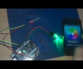 Arduino/Android - BLUETOOTH RGB LED CONTROL ANDROID APP
