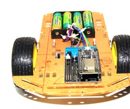 A very cheap ESP8266 WiFi smart car controlled by phone based on NodeMCU