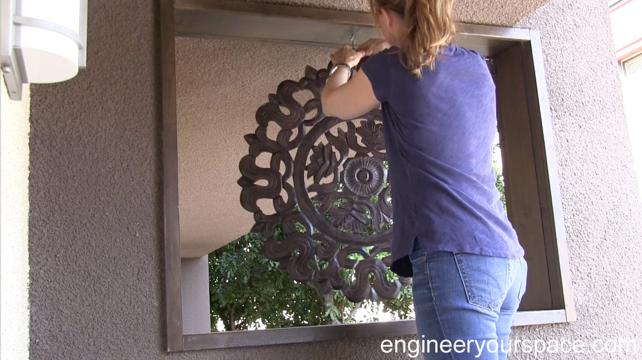 Picture of Installing the Wood Carving