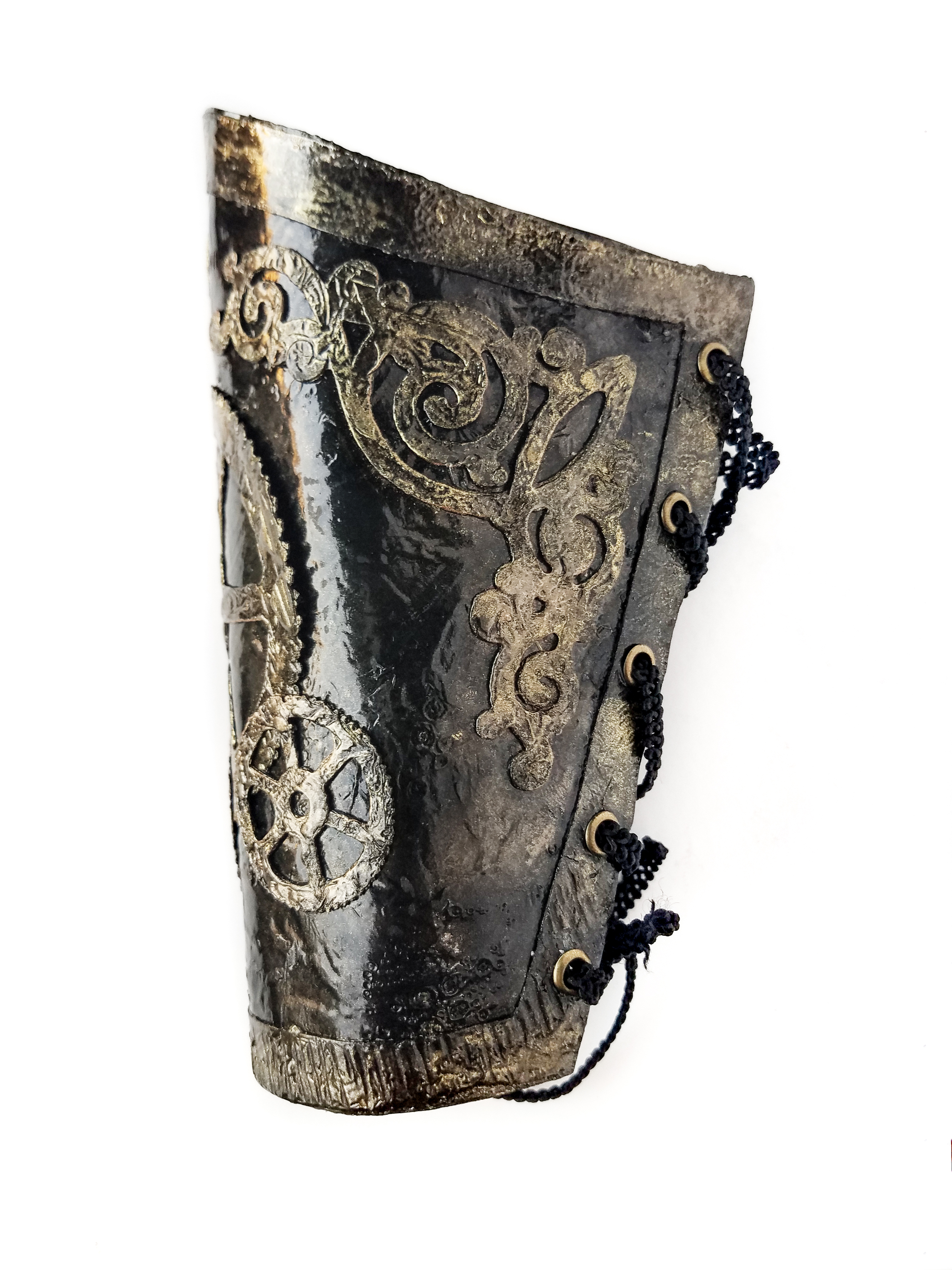 Picture of Burned Glue Faux Leather Steampunk Arm Cuff