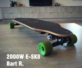 Powerful 2000W Electric Longboard