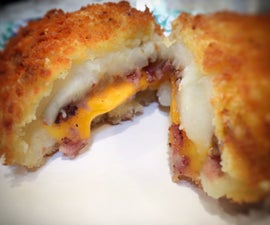 Cheesy, Bacon and Onion Potato Croquette