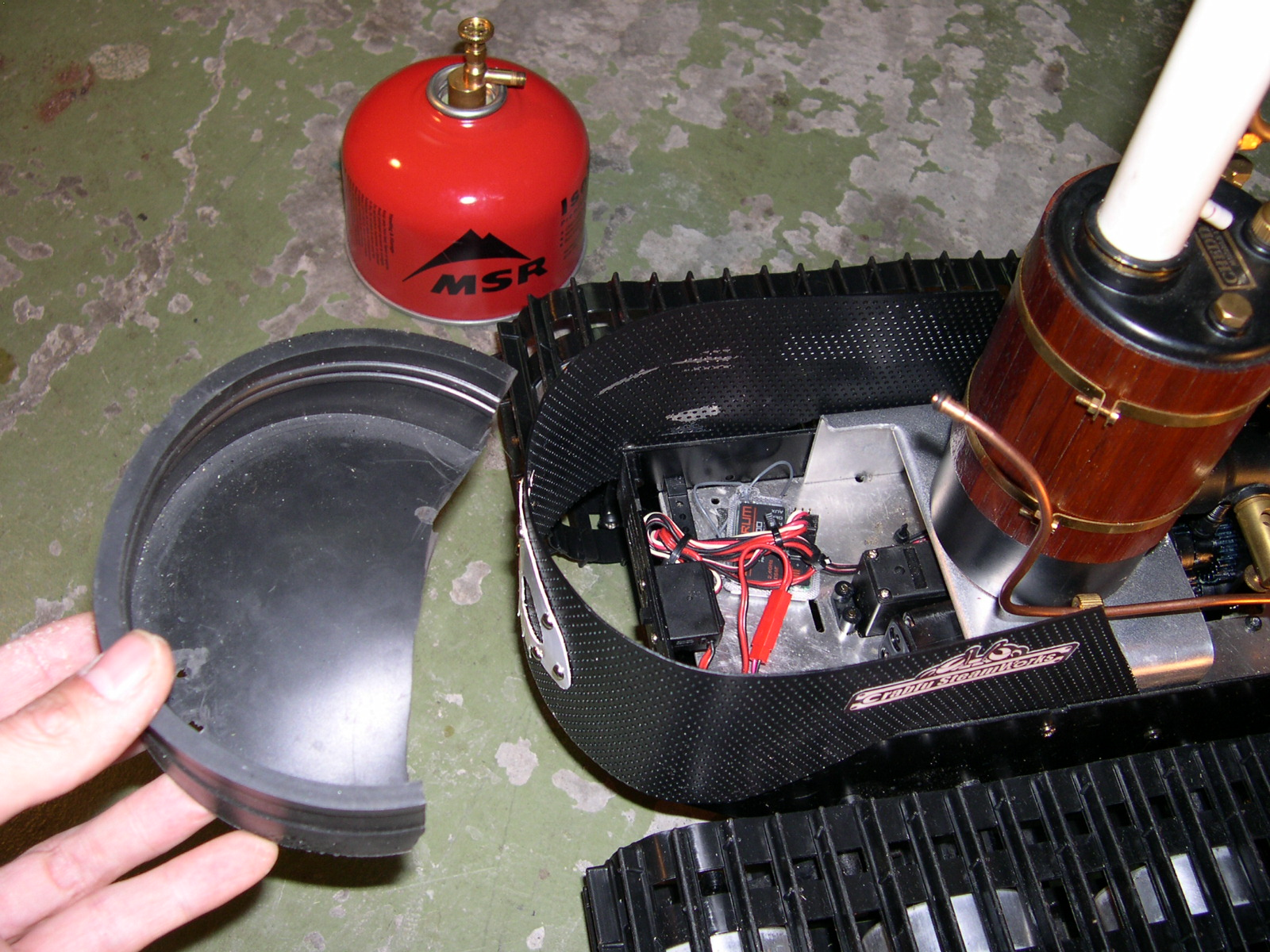 Picture of Securing the Gas Tank