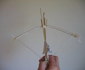 Handheld bamboo skewer pistol crossbow