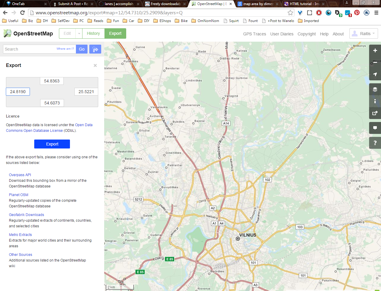 Picture of Using Openstreetmap.org and Maperitive