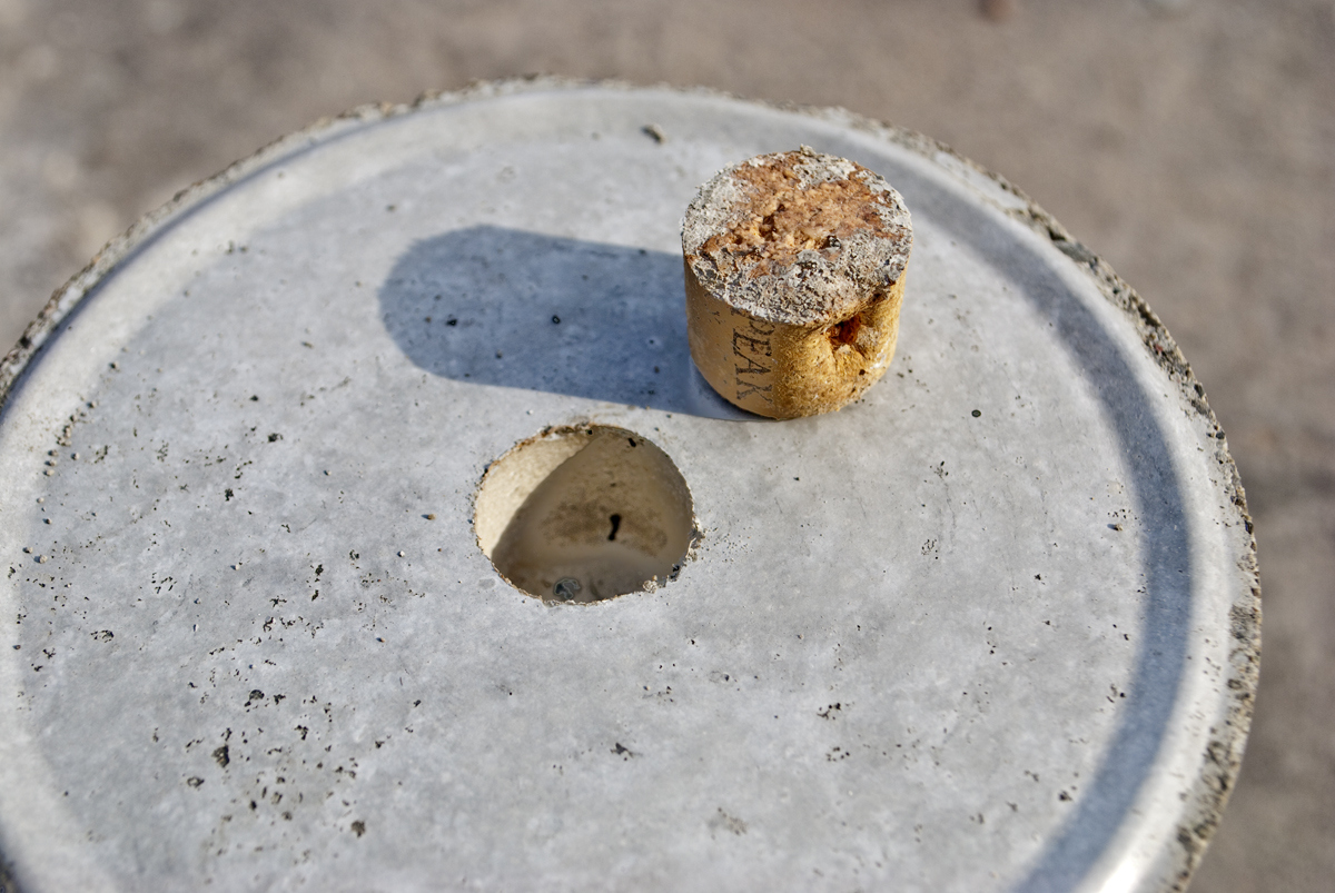 Picture of More Advanced: Use a Wine Cork to Cast a Drain Hole