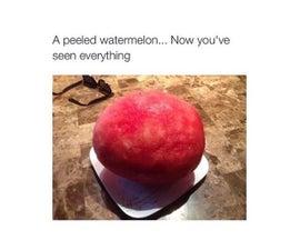 How To Peel A Watermelon (Machete Method)