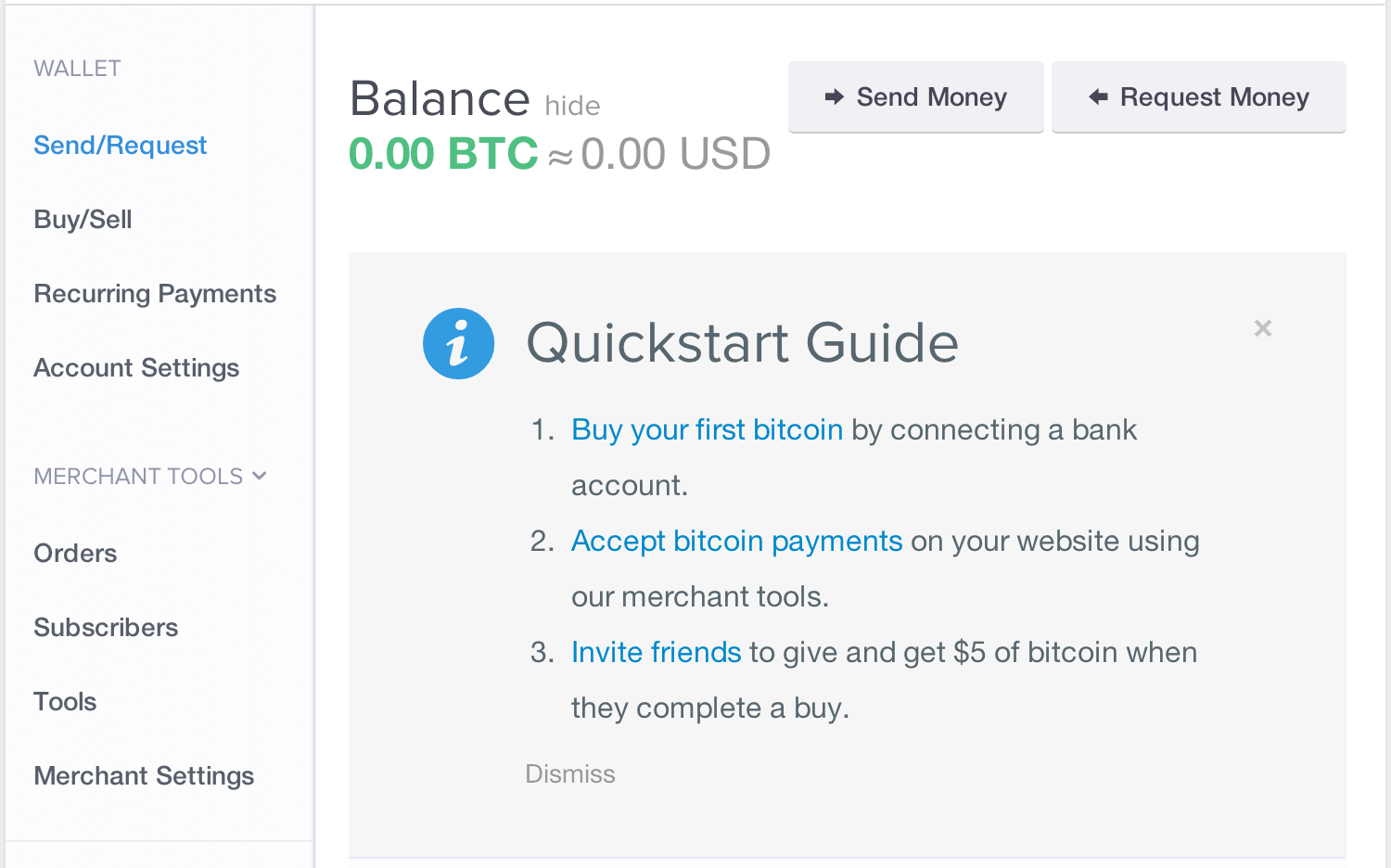 Picture of Make an Account at Coinbase