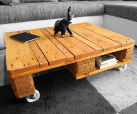 Pallet Coffee Table Easy & Cheap - VIDEO