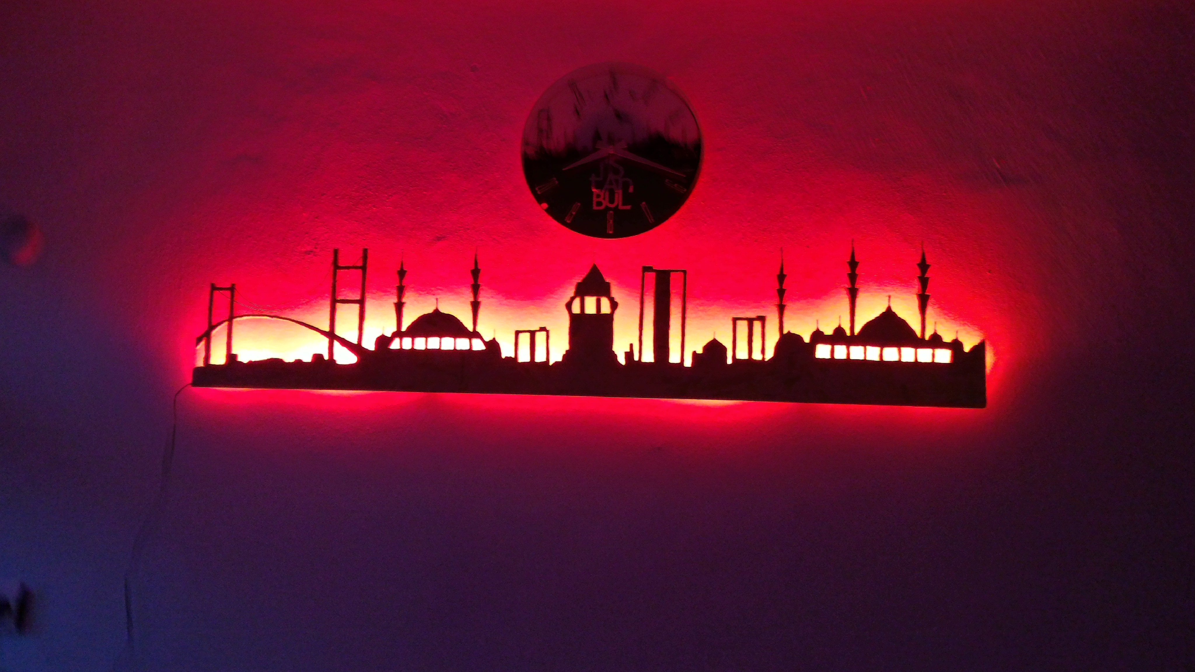 Picture of Istanbul City Wall Skyline (plywood)