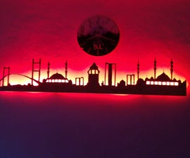 Istanbul City Wall Skyline (plywood)