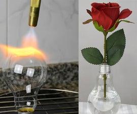 Flat Bottom - Light Bulb Vase