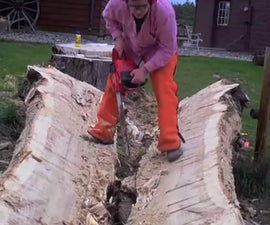 How to evenly split a large log.