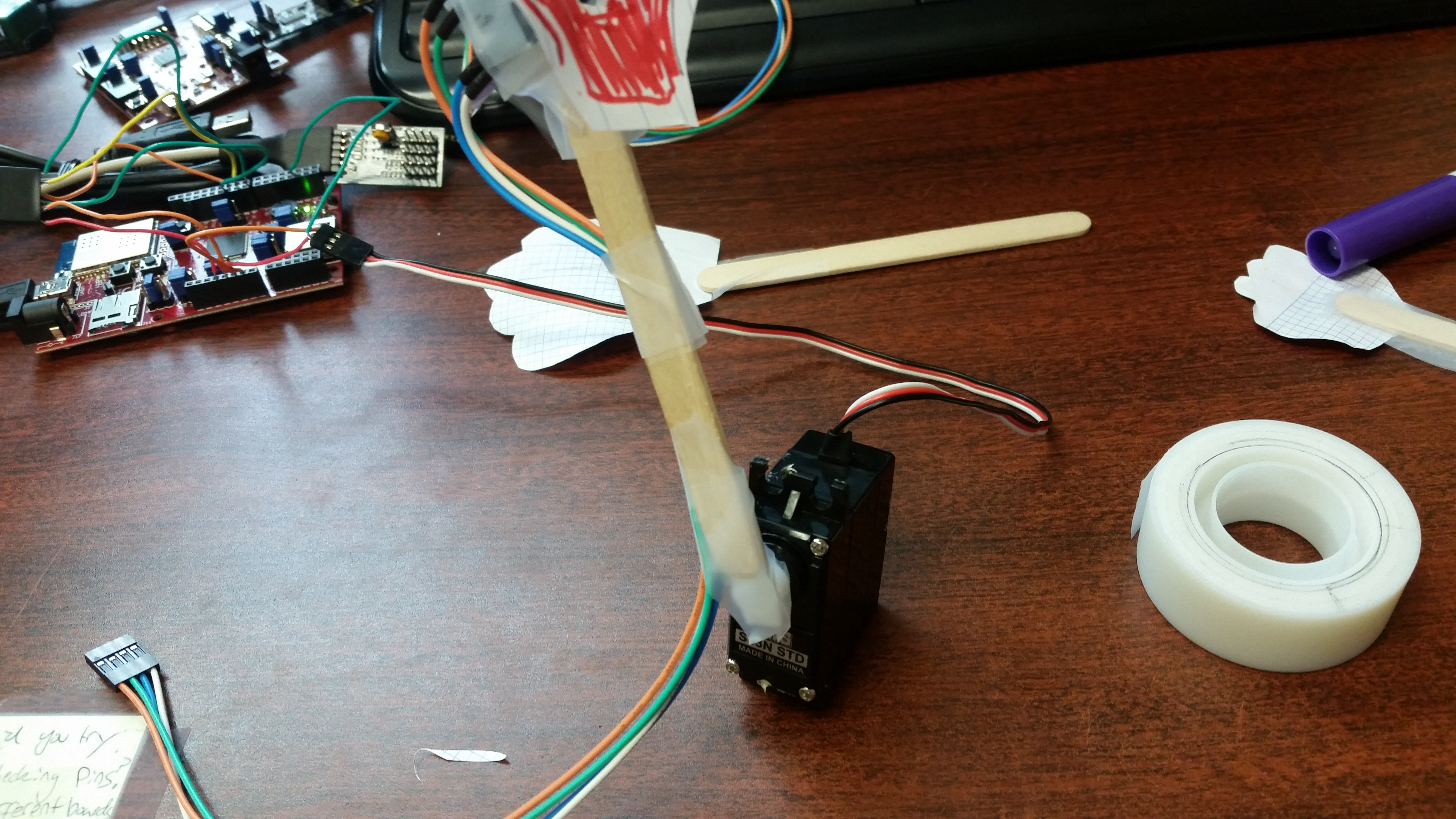 Picture of Attach the Sensor Hand to the Servo Motor