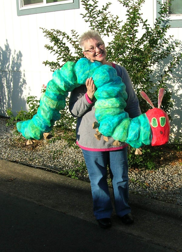 "Papier Mache ""Very Hungry Caterpillar"""