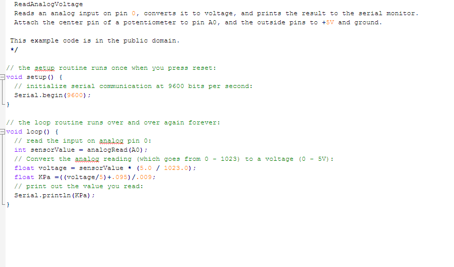 Picture of Arduino Code and Rescale