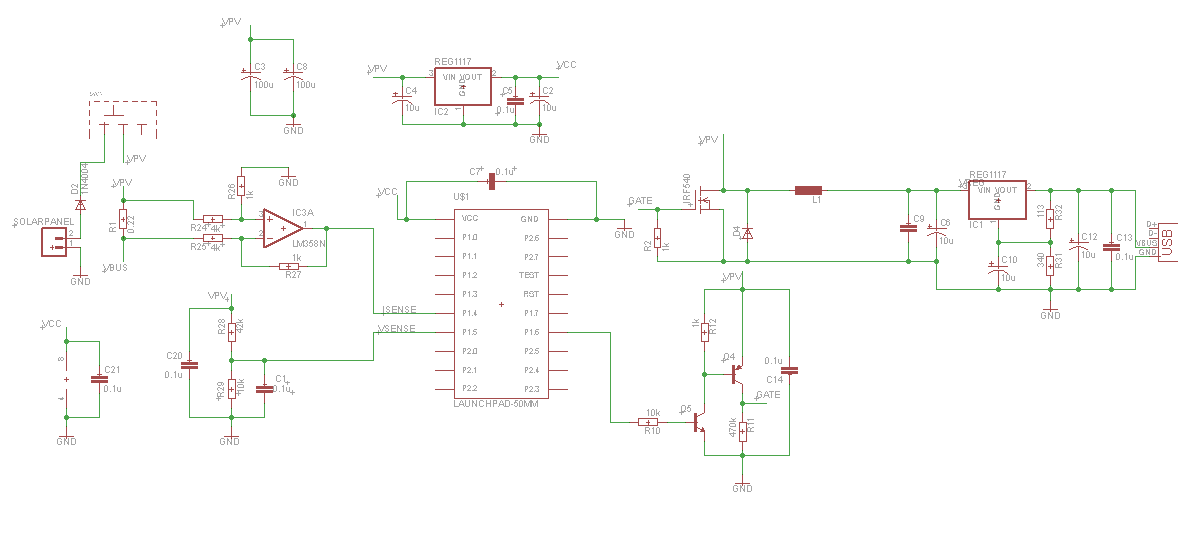 Picture of Solar charger schematic using mppt