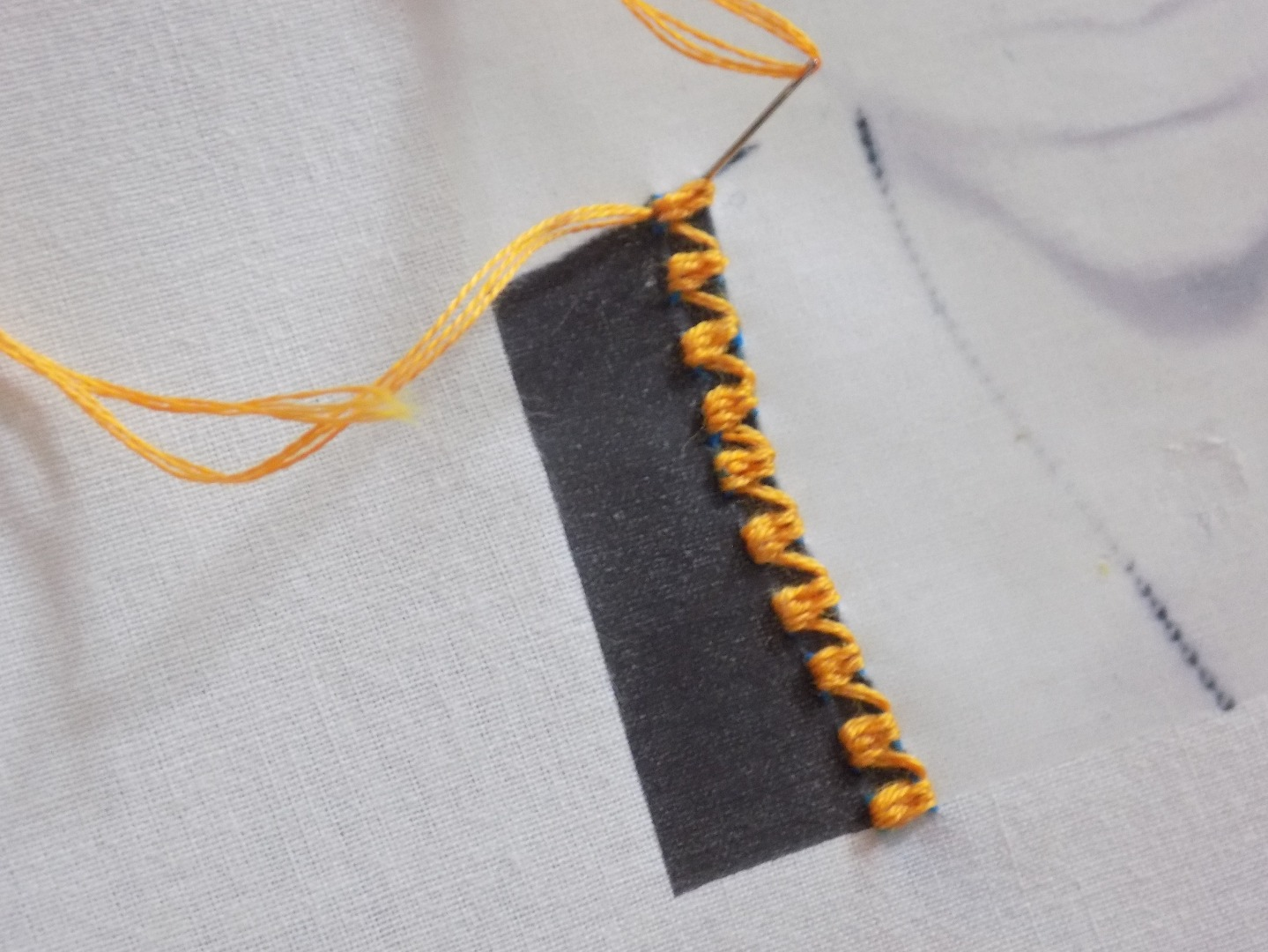 Picture of Woven Running Stitch Continued