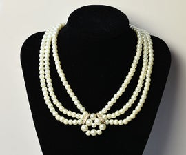 Pearl Jewelry Design - How to Make a Handmade Three-Strand White Pearl Bead Necklace