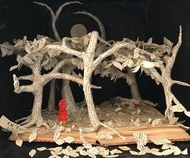 Little Red Riding Hood Book Sculpture