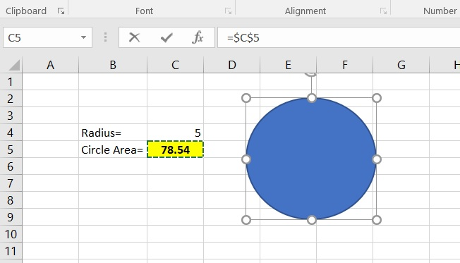Picture of Assign a Cell to the Shape