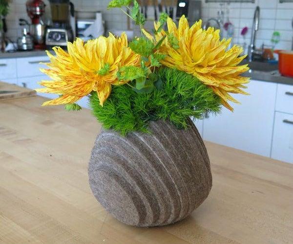 Layered Felt Vase
