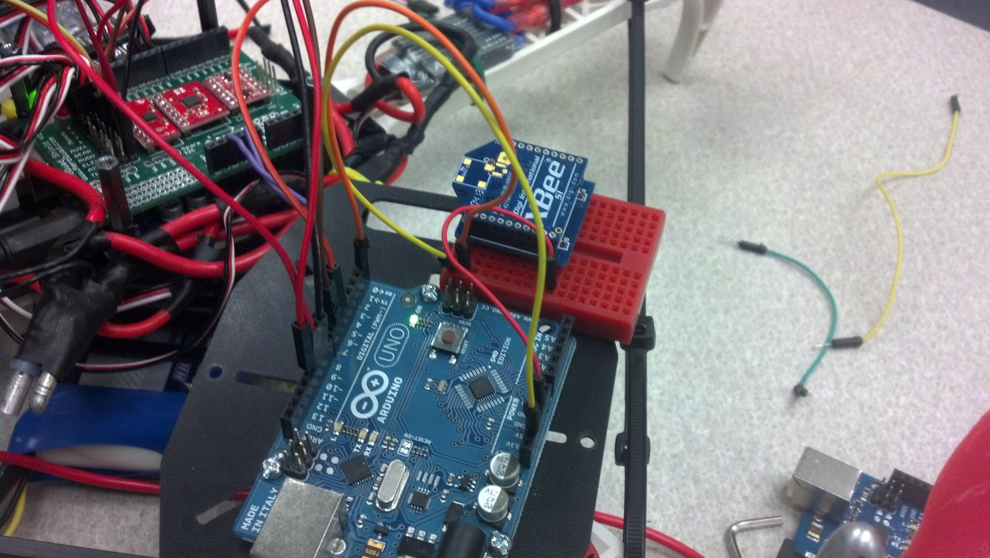 Picture of Transmitting Data to the Quad Over Xbees