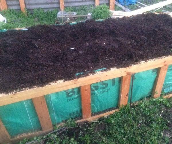 No Irrigation Raised Bed Gardening System (Hugelkultur)