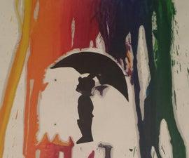 Rainbow Rain Wax Art