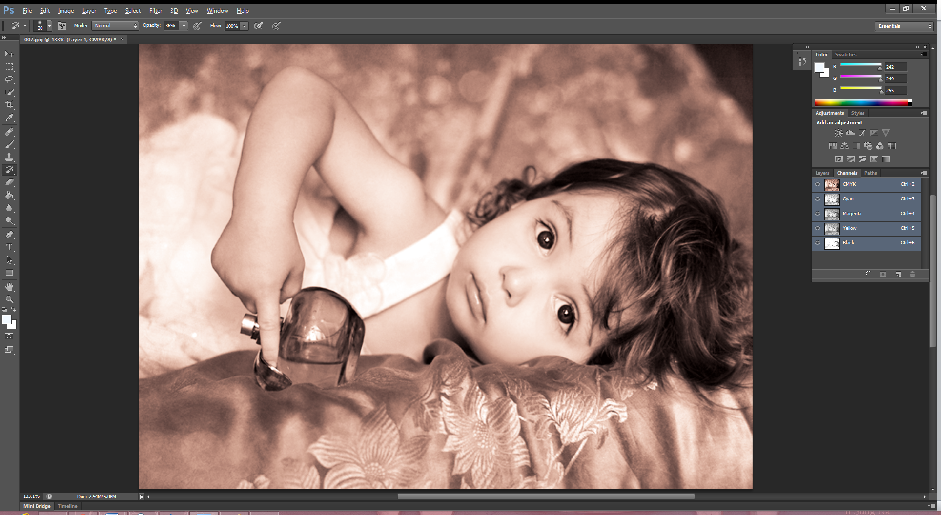 Picture of Go to Image => Adjustments => Brightness/Contrast to Set Up Brightness and Contrast.