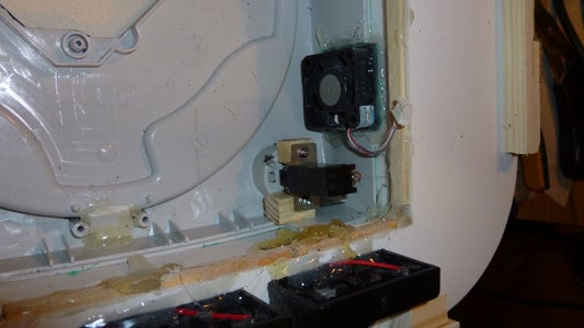 On/off Switch and Holding Console in Place