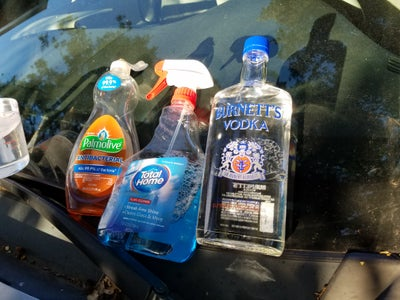 Three Easy Steps: Soap+water; Windex; Then Vodka