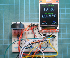Arduino DS3231 Real Time Clock With Color TFT