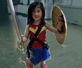 Wonder Woman Cosplay: Shield, Bracers, Shin Guard, Harness