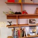Oak MDF Display Shelves.