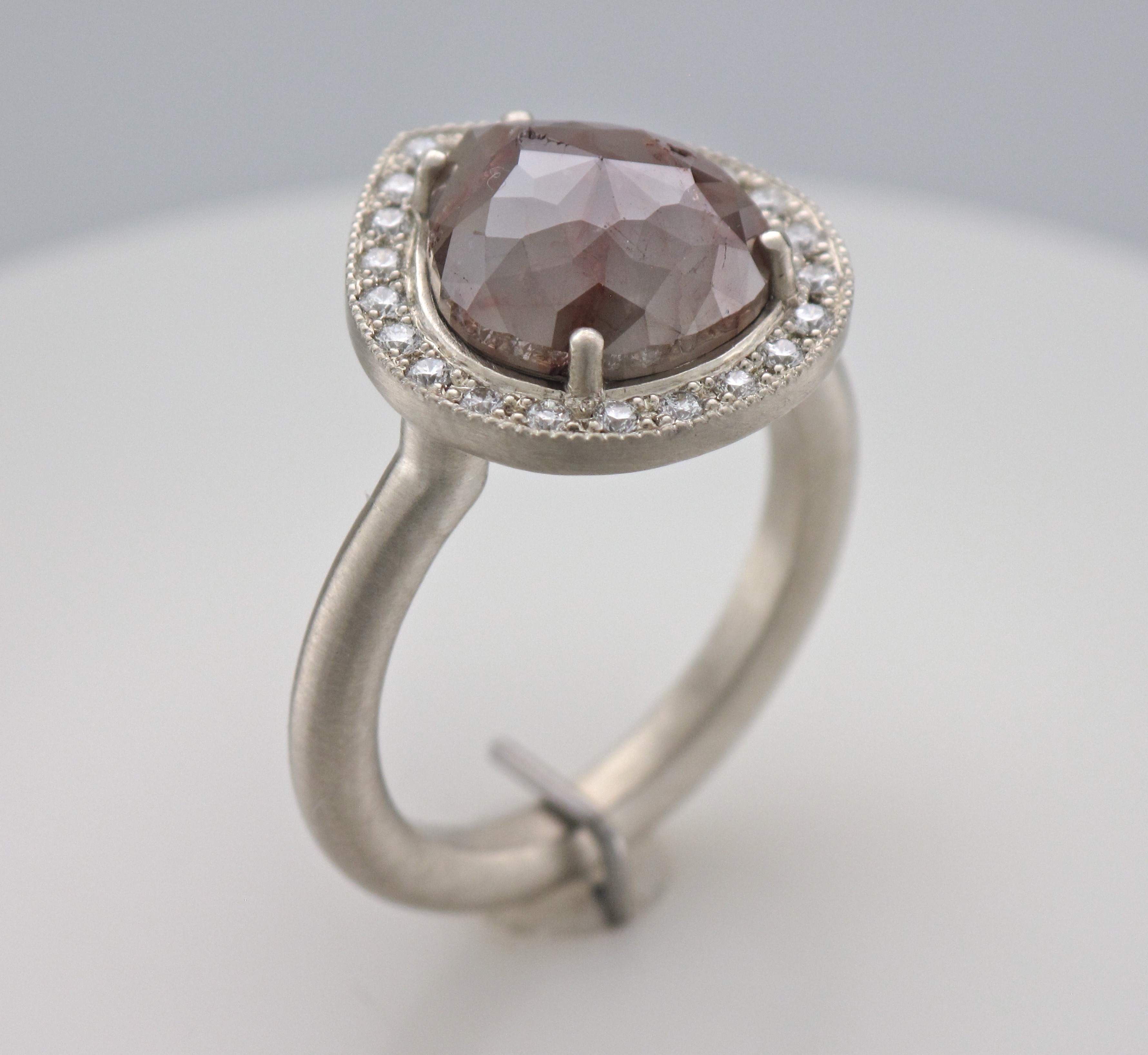 Picture of Rose Cut Natural Raw Diamond Ring