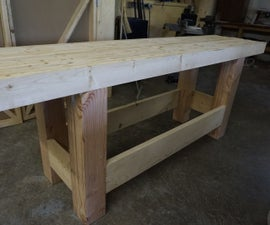 Woodworking Workbench: Sturdy, Inexpensive and Quick to Build