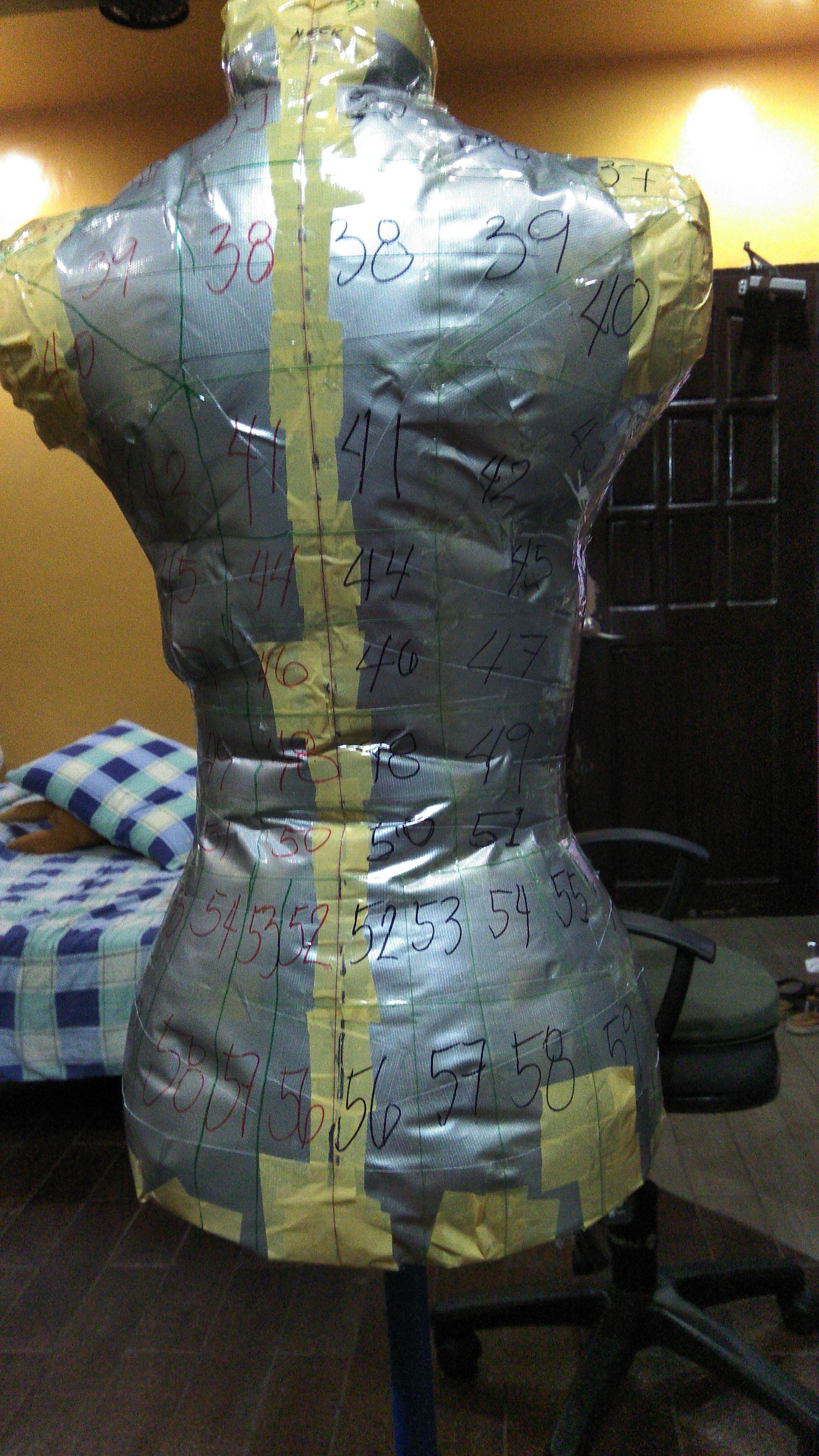 Picture of Marking the Tape Dress Form